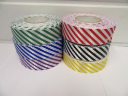 25mm Candy Stripe Ribbon 2 metres or 20 metre roll Barber Shop Diagonal